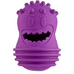 """Leaps & Bounds Smart Snacker Mad Head Crew Dog Toy, 5"""", X-Sm"""