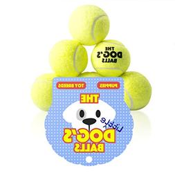 The Little Dog's Balls - 6 Small Yellow Tennis Balls for Dog