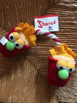 Zanies Lunch Time Tugs French Fries Pull Tug Toy New Plush D