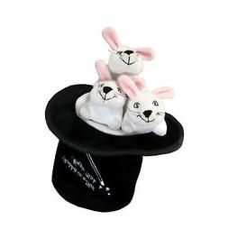 Kyjen Magic Hat with Rabbits Puzzle Plush Interactive Dog To