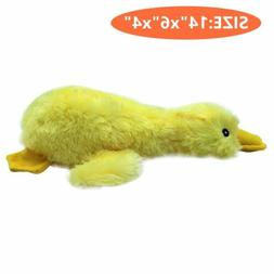 Mallard Dog Toys for Aggressive Chewers Plush Stuffed Yellow