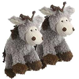 Multipet's Mane Event 11-Inch Donkey Plush Dog Toy