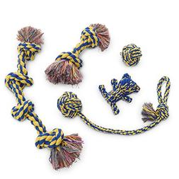 Dog Rope Toy 5pc Set MAS, EXTRA THICK Durable Quality, 100%