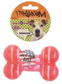 JW Pet Company Megalast Bone Dog Toy, Small, Colors Vary