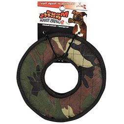 Zanies MegaRuffs Tire Dog Toys, Green Camo