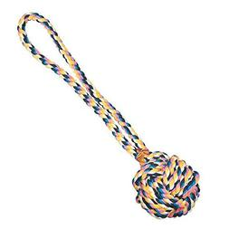 Monkey Fist Knot Rope Dog Toy Ball Handle Fetching Tugging C