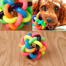 Multi-color Pet Bell Ball Nobbly Wobbly Rubber Woven Ball Ch