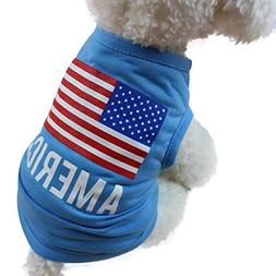 BEAUTYVAN, New American Flag Cute Pet Vest Clothing Small Pu
