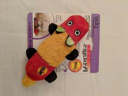 Petstages New Stuffing Free Mini Two Squeak Fox Dog Puppy To