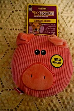 NWT MULTIPET DOG TOY CUDDLE BUDDIES SUB WOOFER PIG