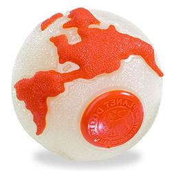 Planet Dog 83444700409-9 Orbee-Tuff Orbee Glowith Orange Med