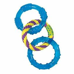 PETSTAGES ORKA DENTAL LINK RINGS TEETHING DOG TOY PUPPY FREE