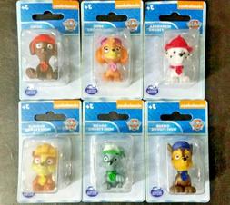 PAW PATROL FIGURES TOYS /  Cake Toppers Set of 6 Nickelodeon