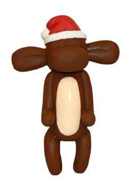 Charming Pet Products Balloon Xmas Monkey Mini Latex Dog Toy