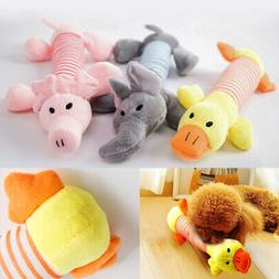 Pet Chew Toy Dog Puppy Squeaker Squeaky Soft Cute Plush Play