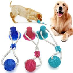 Pet Dog Floor Suction Cup Ball Toy for Cat Puppy Teeth Clean