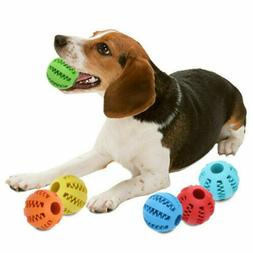 Pet Dog Puppy Cat Training Dental Toy Rubber Ball Chew Treat
