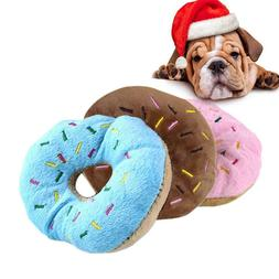 Pet Dog Puppy Toys Cream Donut Pillow Small Dogs Chew Squeak