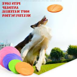 Pet Dog Toy Exercise Frisbee Toy Training Tool Silicone Pupp