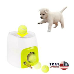 Automatic Dog Feeder Toy, Interactive Dog Ball Fetch and Tre