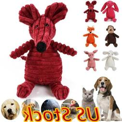 Pet Dogs Chew Toy Squeaky Plush Dog Toy for Aggressive Chewe