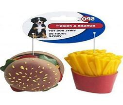 Ethical Pet Products  DSO5741 2-Pack Vinyl Burger and Fries