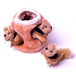Pet <font><b>Toys</b></font> Squeaky Three Squirrel Hide Plu