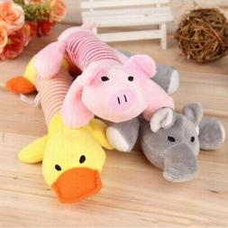 Pet Puppy Chew Squeaker Squeaky Plush Sound Pig Elephant Duc