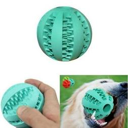 Pet Puppy Dog Ball Chew Teething Treat Clean Bite Durable Tr