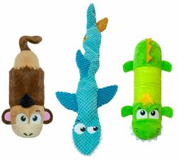 Petstages Stuffing Free Dog Toy with Invincible Squeaker Mon