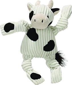 HuggleHounds Plush Corduroy Durable Barnyard Knotties, Small