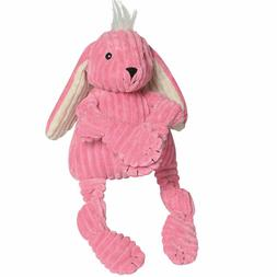 HuggleHounds Plush Corduroy Durable Knotties Bunny Dog Toy,