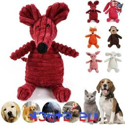 Plush Dog Toy Cat Chew Pet Cute Puppy Durable Squeaky Traini