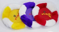 Plush Fliers Flying Disc Squeaker dog toy Puppy Toys gift B3
