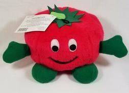 Zanies plush giggling Tomato Dog toy toys puppy giggle when
