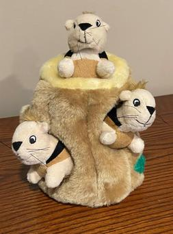 Kyjen Plush Puppies Hide-a-Squirrel Dog Toy. Includes 3 squi