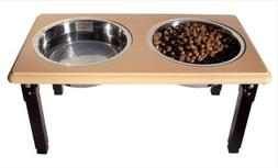 Ethical Pets Posture Pro Adjustable Double Diner 2qt Brown