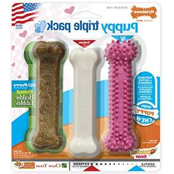 Nylabone Puppy Chew Variety Toy & Treat Triple Pack, Chicken