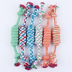 Kim88 Puppy Dog Pet Toy Cotton Braided Bone Rope Chew Knot N