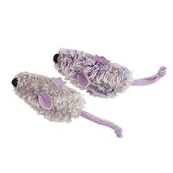 KONG Purple Mouse & Frosty Grey Mouse Catnip Toy, Cat Toy, 2