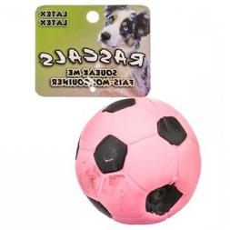 "Coastal Pet Rascals Latex 3-inch Soccer Ball Dog Toy - 3"" Pi"