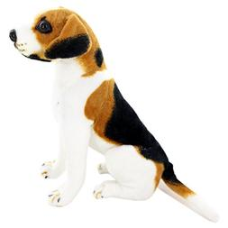 Jesonn Realistic Stuffed Animals Dog Sitting Beagle Plush To