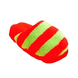 Baidecor Red Plush Slipper Shaped Squeaker Chew Dog Toys