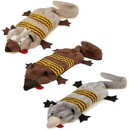 Road Crew Unstuffies Dog Toy Squeakers Plush Stuffing-Free T