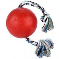 "Jolly Pets ROMP N ROLL Ball Dog Toy 4.5"" Tough  Red or Blue"