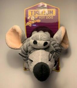 Multipet 4-Inch Rope Head Elephant Dog toy with Plush Face