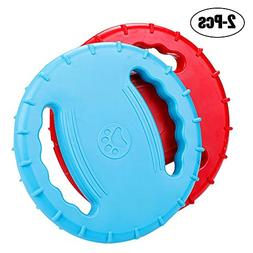 Rubber Dog Frisbee,Tough Training Flying Disc Play Toy For