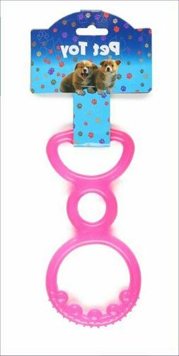 Rubber Spiked Pull Toy - PINK - Chew - Teething Puppy Dog Tu