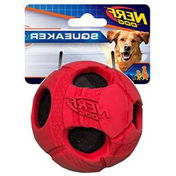 Nerf Dog Large Rubber Wrapped Bash Tennis Ball Red Dog Toy