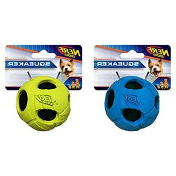 Nerf Dog Small Rubber Wrapped Bash Tennis Ball Green & Blue